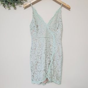 LUSH Mint Green Lace Cocktail Dress Small NWT